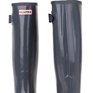 hunter boots Glossy Gray comes with hunter socks